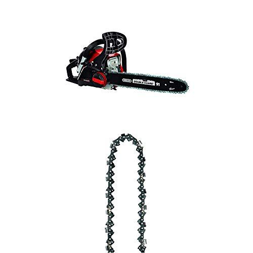Einhell 4501829 GC-PC 1435 I TC Benzin-Kettensäge, Rot, Schwarz + Ersatzkette passend für Benzin Kettensäge BG-PC 1235 und BG-PC 3735 (Kettenlänge 35 cm, 52 Treibglieder)