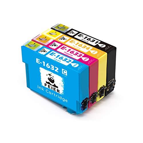 feier 16XL Ersatz für Epson 16XL 16 XL Druckerpatronen Kompatibel mit Epson Workforce-Druckern WF-2630WF WF-2750DWF WF-2530WF WF-2510WF WF-2010W WF-2520NF WF-2540WF WF-2650DWF und WF-2660DWF