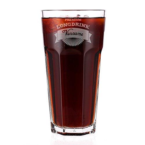 Herz & Heim® Premium Longdrinkglas graviert mit Namen