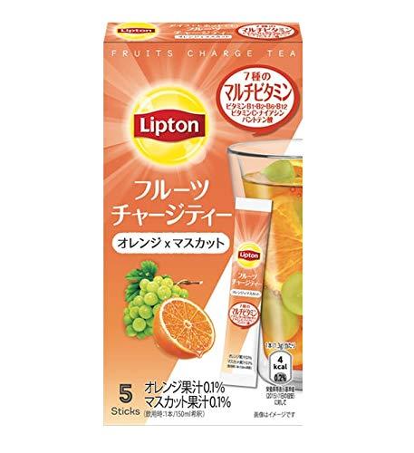 リプトン キーコーヒー フルーツチャージティー スティック オレンジ&マスカット 5本×6個