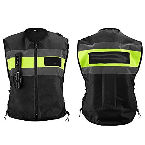 Chnzyr Motorradweste Mit Airbag Hat EIN Großes Reflektierendes Design, CO2-Airbag-Auslösesystem, Schnelles Aufblasen, Hohen Sicherheitsfaktor, 600D Dickes Material, Stark...