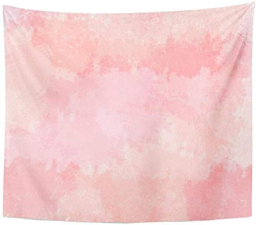 Tapestry Wall Hanging Wall Tapestry Colorful Abstract Light Pink Blush Coral Digital Watercolor Red Floral Color Tapestry Home Decor Wall Hanging Living Room 150X130Cm