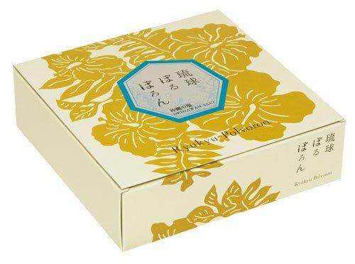 琉球ぽるぼろん 沖縄の塩味 10個入 ×5箱 くがに菓子本店 ミネラル豊富な粟国の塩使用。 甘さと塩っぱさが相まり、さっぱりとした味わいの焼き菓子