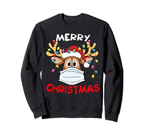 Reindeer In Mask Funny Merry Christmas 2020 Sweatshirt