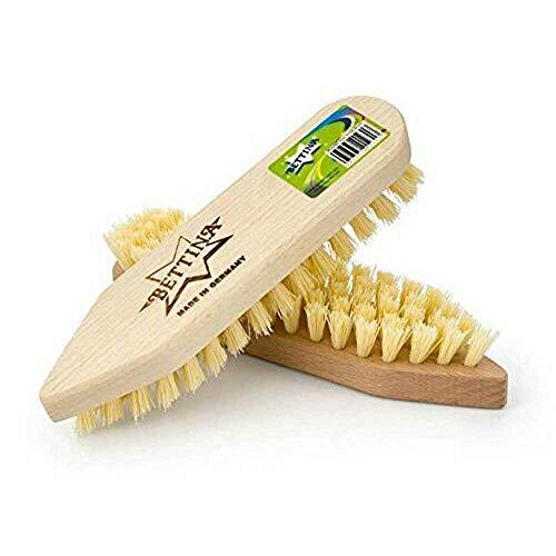 Bettina Cepillo de madera con cerdas rígidas para limpieza