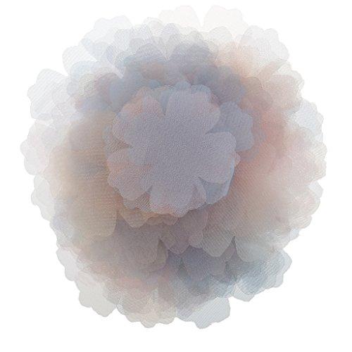 B Blesiya 100pcs Embellissement De Fleur De Tulle Pour Coudre Des Accessoires De Cheveux De Bricolage