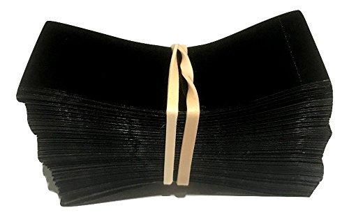 66 x 25 mm Schwarze Schrumpffolie perforiert zum Versiegeln für behälter und Flaschen aller Art [Durchmesser von 32 mm bis 38mm] - Packung à 250 Stück