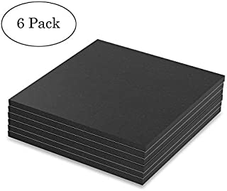 "Melife Neoprene Rubber Mats, 6"" x 6"" Adhesive Foam Padding Weather Stripping Non-Slip Furniture Pads Black Rubber Insulation Anti-Vibration Pads. (6 Pack)"