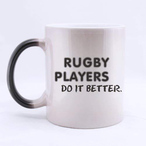 Regalos para jugadores de rugby Regalos para amantes de los deportes Dichos divertidos Los jugadores de rugby lo hacen mejor Té o café Taza de cerámica de 11 onzas