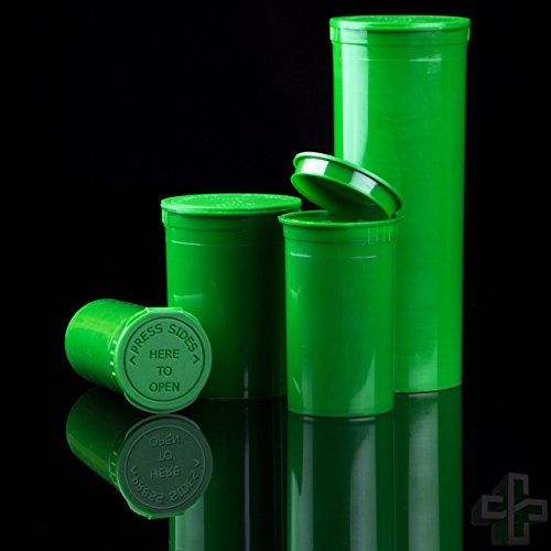 Green Pop Top Bottles and Vials - 60 Dram/14 Grams per Bottle (75 Bottles)