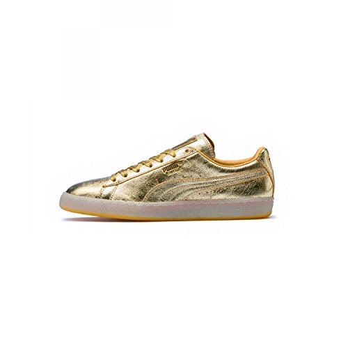 PUMA Mens Suede Classic (50th Anniversary) Gold/Gold Sneaker - 9
