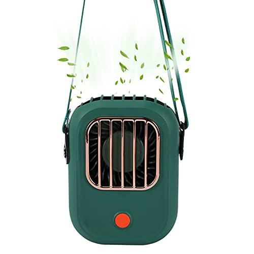 Tragbarer Ventilator,Joycabin Nackenbügel Ventilator ,Mini Handventilator Tragbarer,USB Tischventilator Lüfter,3 Windgeschwindigkeiten Einstellbar für Heimsport Büro Reisen Im Freien(Grün)