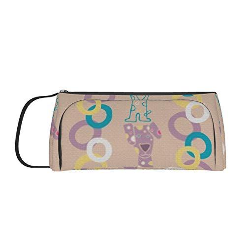 Großraum-Stifttasche Schreibtisch Organizer Briefpapierkoffer mit Reißverschlussfächern Hintergrundbild verwenden Make-up Kosmetiktasche für Mädchen Jungen Teenager Studenten Erwachsene
