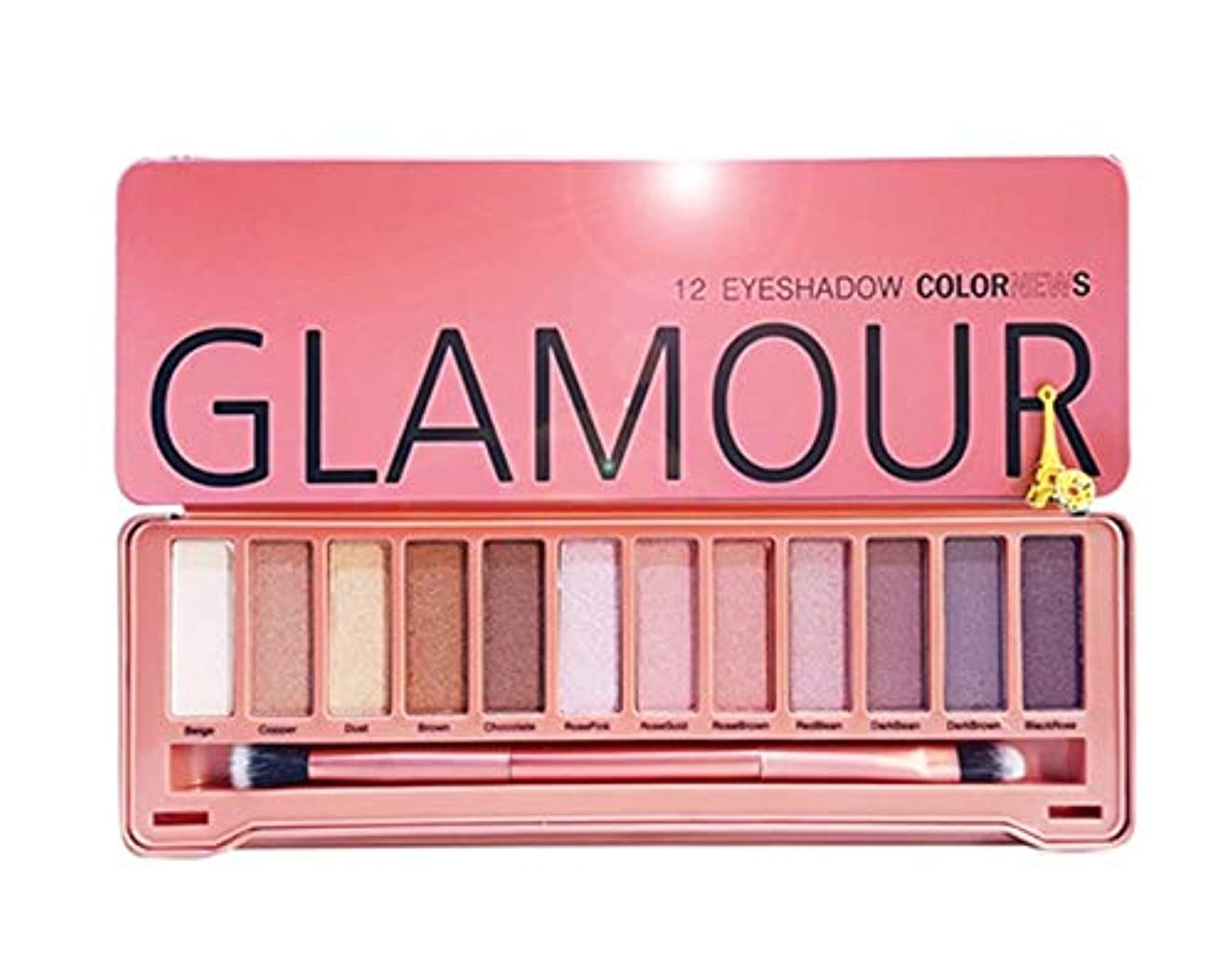領域タイプライタークロニクルGlamour 12 Eyeshadow Color News 自然デイリーメイクから華やかなアイメイク12色アイシャドウパレット(海外直送品)