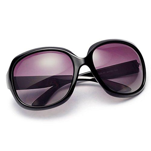 Polarized Sunglasses for Women, AkoaDa UV400 Lens Sunglasses for Female Fashionwear Pop Polarized Sun Eye Glass (Black)