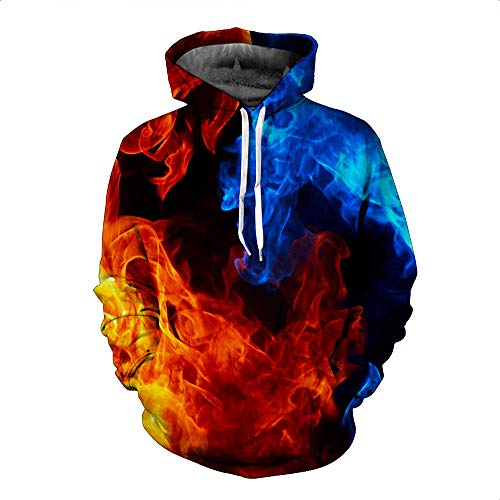 BEIXUNDIANZI Unisexe Hommes Sweats à Capuche Pull à Manches Longues Hiver Sweat-Shirts 3D Hoodies Sweats à Capuche Printed Hoodie Fantaisie Manches Longues Pullover A 5XL