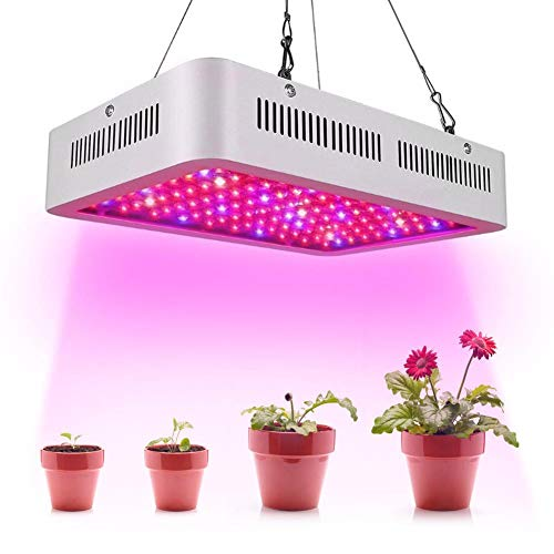 Calistouk 600W/1000W LED Grow Light Full Spectrum para plantas de invernadero hidropónicas de interior Veg and Bloom 60pcs 10W LED (600W)