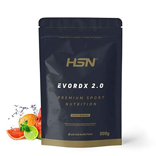 Pre Entreno Potente Evordx 2.0 de HSN | Pre Workout con Cafeína, Creatina Creapure + BCAAs + Beta-Alanina + Arginina | Óxido Nítrico | Sin Carbohidratos | Sabor Ponche de Frutas, 500g