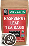 Organic Red Raspberry Leaf Tea Bags | 20 Tea Bags | Eco-Conscious Tea Bags in Kraft Bag | Raw from...