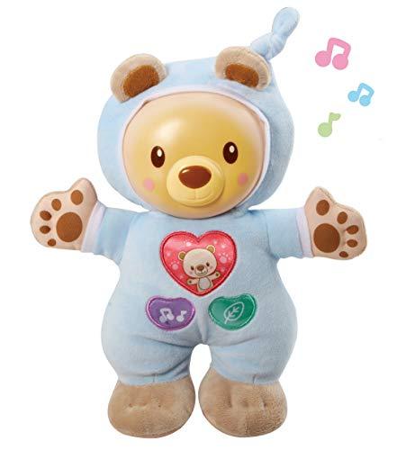 VTech- Cuco Cuna Dulce muñeco Infantil con relajantes melodías, Canciones y Sonidos de la Naturaleza, Suave luz Noche Que Brilla en la Oscuridad para calmar y relajar al bebé (3480-502122)