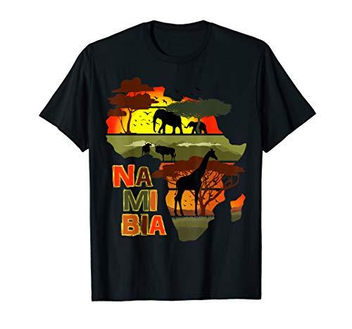 Namibia Afrika Kontinent Sonnenuntergang Natur Wild Life T-Shirt