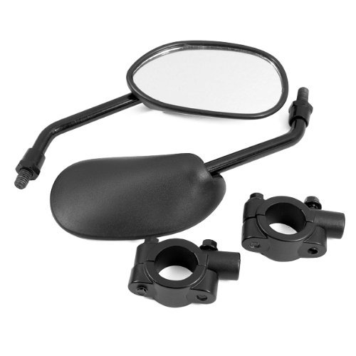 dlll schwarz Retro Style Seite Rückspiegel w/7/20,3cm Lenker Mount 8mm Adapter für Mountain Bike BMX Fahrrad Motorrad Dirt Bike ATV Cruiser Chopper