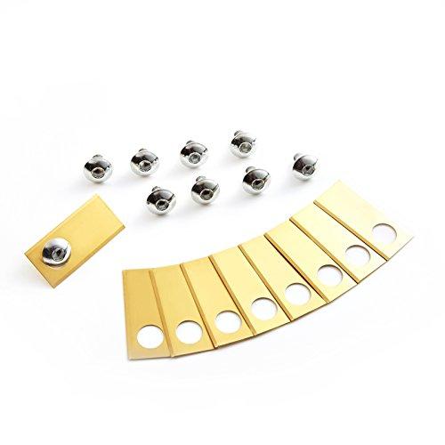 Lokyee 30x Titan Messer Klingen passend für Honda Miimo 310, 520, 3000, HRM 310, HRM 520, HRM 3000 Mähroboter - (0.5mm) Ersatzmesser Ersatzklingen