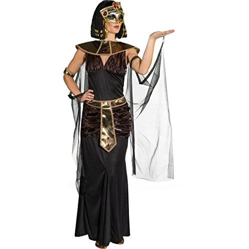 Amakando Ägypterin Damenkostüm Cleopatra Kostüm L 44/46 Ägyptische Königin Outfit Frauenkostüm Pharaonin Pharaoninkostüm Damen Faschingskostüm Antike
