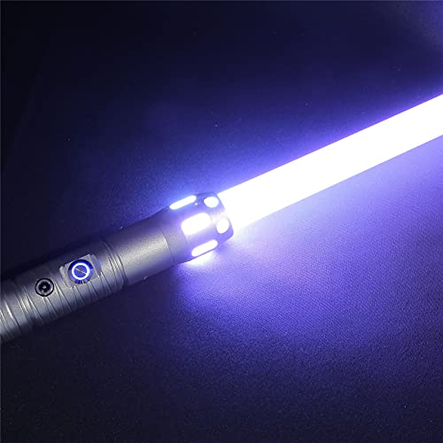 ETE ETMATE RGB Manico in Metallo Spada Laser 11 Colori modificabili con 7 Set di modalità Effetti sonori Metal Aluminium Hilt Force FX Lightsaber Duel Light Sabers, Light Saber con Manico in Lega