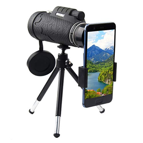 Yhgpom Portable50x60 Outdoor Single Mini HD Monocular Cell Phone Camera Lens TelescopeSuit for Hiking Camping Bird Watching Best Gifts for Men Child