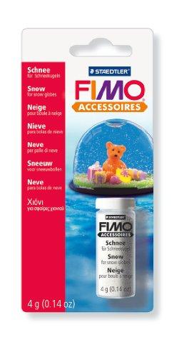Staedtler 8613 BK - Fimo accessoires Schnee, Gläschen mit 4 ml