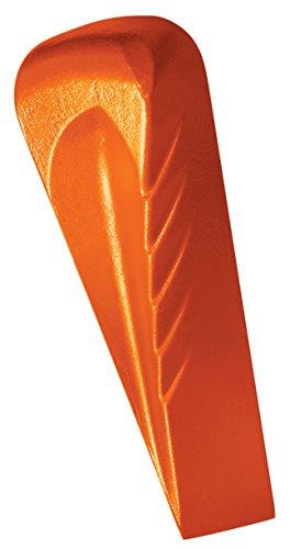 Fiskars Cuneo da spacco forgiato a forma elicoidale, Per mazze scure con testa di battuta in polimero, Acciaio temprato (acciaio al carbone forgiato), Arancione, 1000600