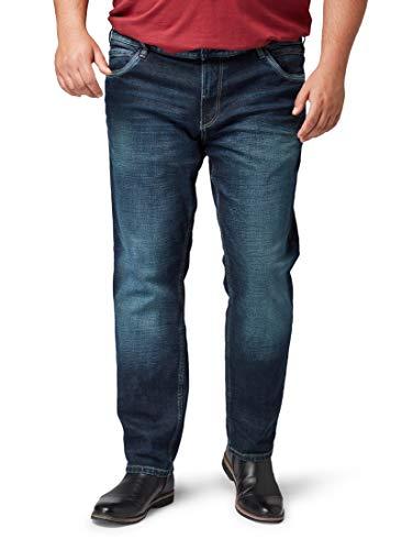 Tom Tailor Men Plus Herren Jeanshosen Slim Jeans Dark Stone wash Denim,46/32