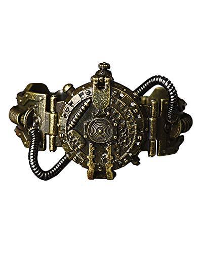 Orologio Colore Bronzo con Tubi Meccanici, Robot Post Apocalittico Steampunk