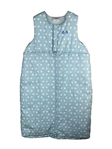 Twins Unisex Baby Schlafsack ärmellos mit Sternen, Blau, 92 (Herstellergröße: 90)