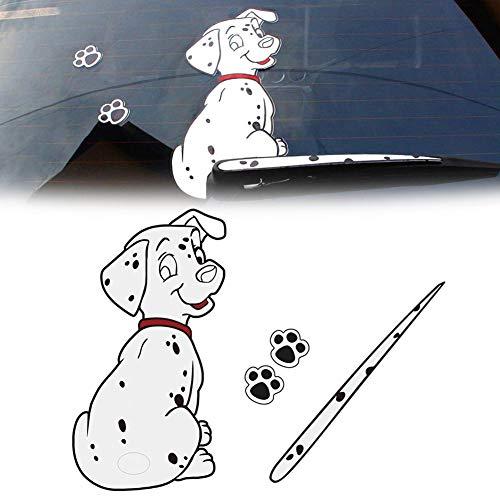 Calcomanías de la ventana trasera del coche de la historieta 3D,patas móviles de la cola del perro Pegatinas auto del coche Pegatinas del limpiaparabrisas la ventana del parabrisas trasero Adhesivos