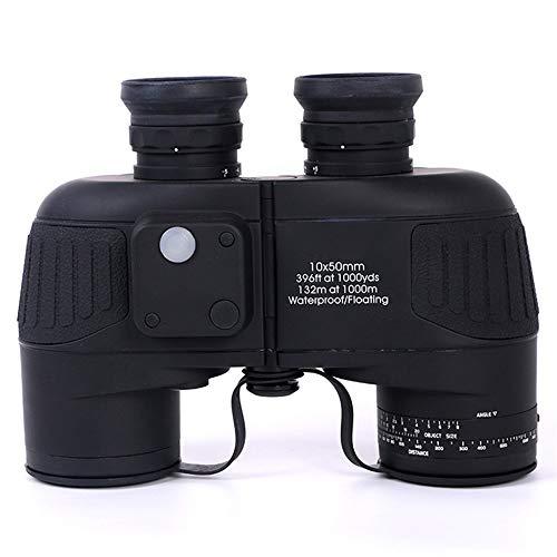 WSJTT Telescopio Telescopio 10x50 binoculares COMPASE HD HD de Alta Potencia con visión de la Noche de Luces de bajo Rendimiento Telescopio de navegación al Aire Libre telescopio