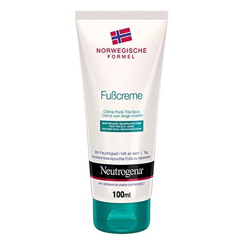 Neutrogena Norwegische Formel Fußcreme, Fußpflege Feuchtigkeitscreme mit Allantoin, Glycerin & Panthenol für 24h Feuchtigkeit (2 x 100 ml)