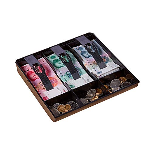 Vokmon Bandeja Cajón de Monedas cajero Réplica de Dinero de la Caja registradora Caja de plástico Caja del cajón Box