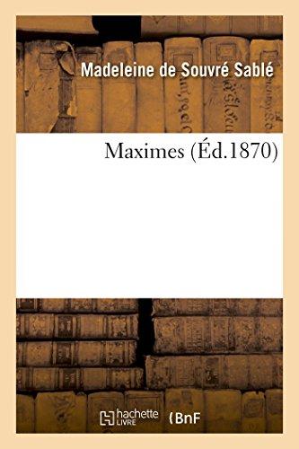 Maximes (Littérature)