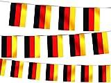 Alsino 2 Stück Deutschland WM 2018 4 Meter je Wimpelkette Lange Wimpelkette Fahnenkette Flaggenkette Fanartikel