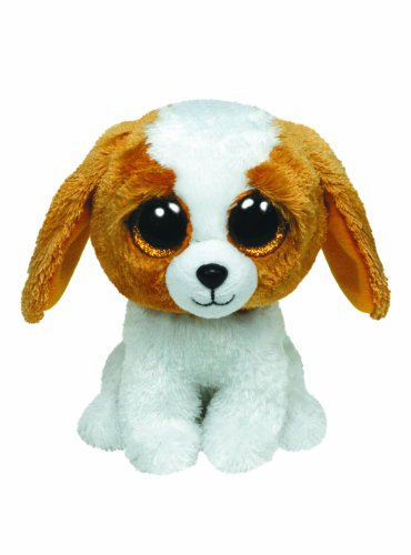 TY 7136802 7136802-Cookie Boo X-Large-Hund weiß/braun, 42 cm, Beanie Boos