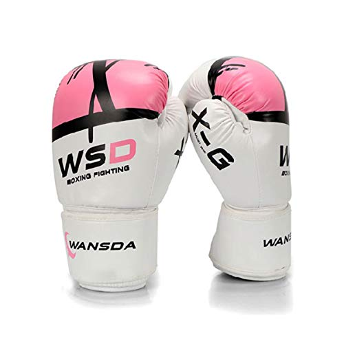 WENPINHUI Adult/Child Boxing Gloves, Muay Thai Fighting Fighting Sanda Boxing Gloves Punching Bag Gloves Training Gloves - The Best Gift (Color : Pink, Size : 8oz)
