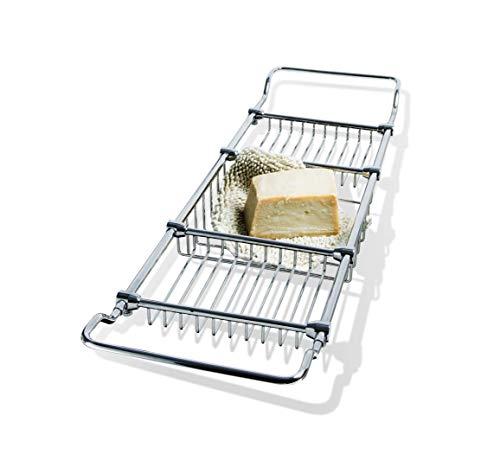 Purchase DWBA Bathtub Caddy with Extending Sides Tub Tray Holder Rack Bath Storage, Brass
