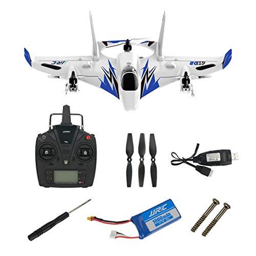 Pgige JJRC-M02 6-CHs RC 3D Avión acrobático Despegue Vertical Avión de Aterrizaje Drone (Azul)