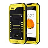 seacosmo iPhone SE 2020, iPhone 7/8 Waterproof Case, Full Body Protective Shell with Built-in Screen Protector, Military Grade Rugged Heavy Duty Case Cover for iPhone SE 2020, Yellow