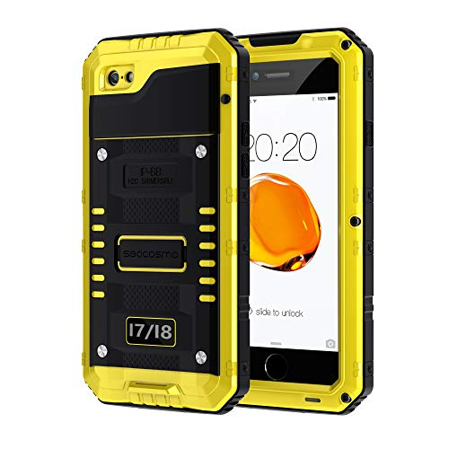 seacosmo Cover iPhone 7, Cover iPhone SE 2020, [Waterproof] Custodia Impermeabile Corpo Completo con Protezione Incorporata dello Schermo per Apple iPhone 8, Nero