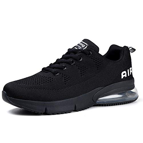 Running Shoes Trail Fashion Sneakers Tennis Sports Casual Walking Athletic Fitness Indoor and Outdoor Shoes for Women Black, 8