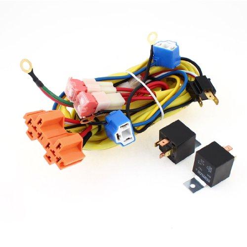 sourcing map H4 90W Phare Câble Relai Kit pour voiture Automobile