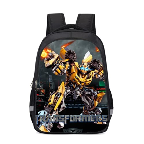 Mochila infantil de Transformers, resistente al agua y duradera, diseño de anime, Bumblebee1, 13 pulgadas, Mochila infantil